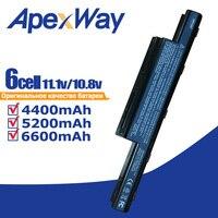 6600Mah Batterie 6 Cellules pour Acer eMachines D440 D528 E640 E642 E644 E650 E730 E730G E732 E732G E732Z E732ZG G640 G730 G730G|Batteries d'ordinateur portable| |  -