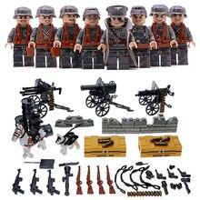 Blocos de Construção de Brinquedos 4 pçs/lote Minnie Arma Do Exército Militar Soldado Compatível Legoed Figuras de Ação Brinquedos de Presente Para As Crianças