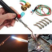 Mini Jewelry Gas Little Torch Welding Soldering Gun kit With 5 tips For Disposable Map Gas And Oxygen Cylinders