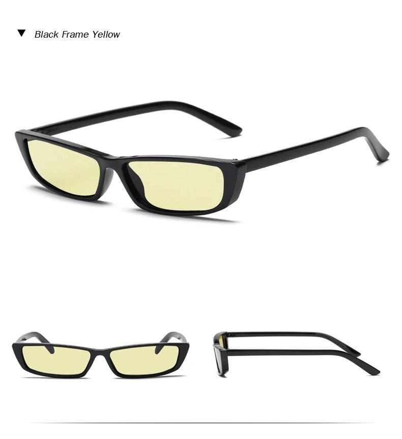 HTB1df3OimfD8KJjSszhq6zIJFXaN - Vintage Rectangle Sunglasses Women Brand Designer Small Frame Sun Glasses Retro Black Eyewear