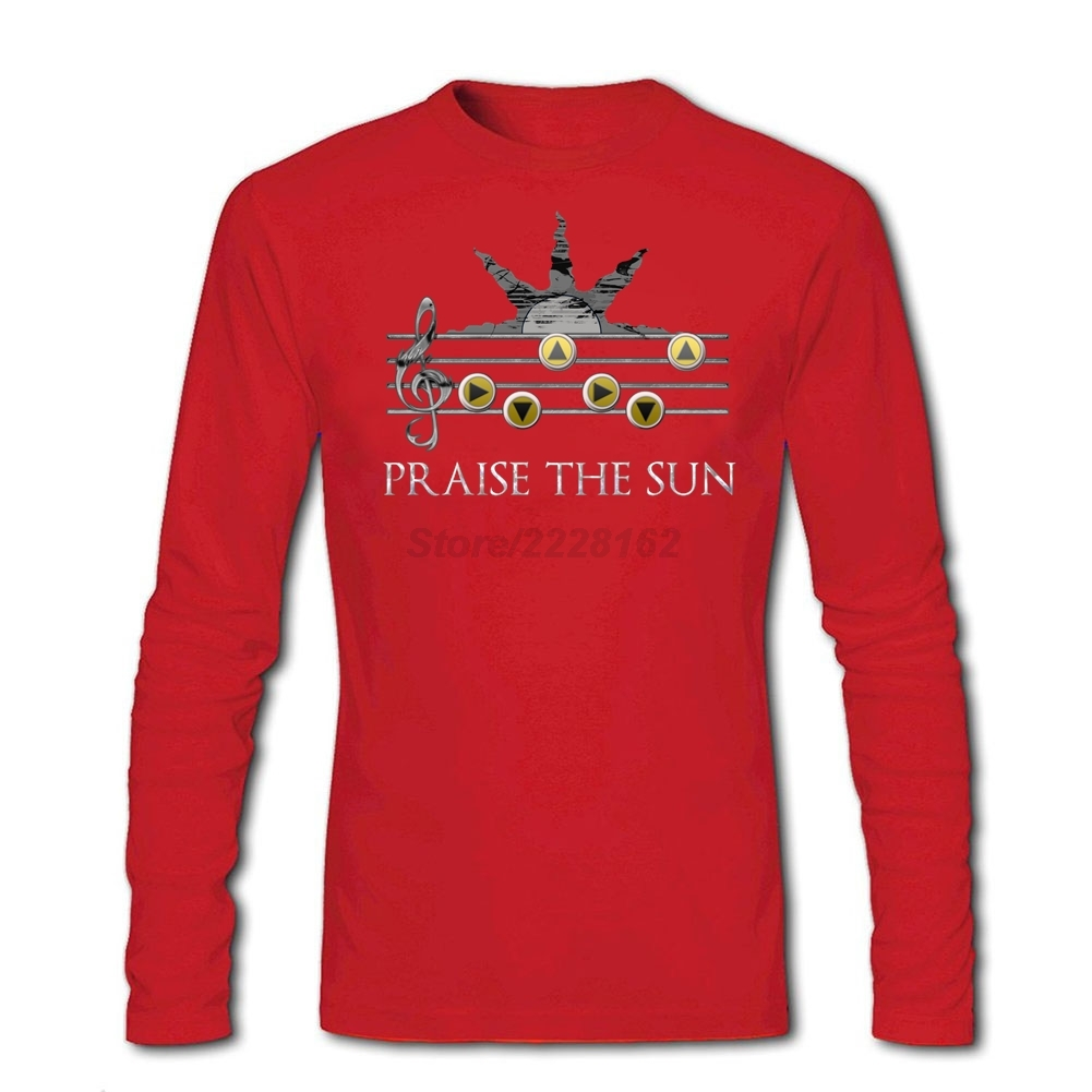 Sun Song Online T Shirt Men Long Sleeved Plus Size Blouses Making Praise The Sun For