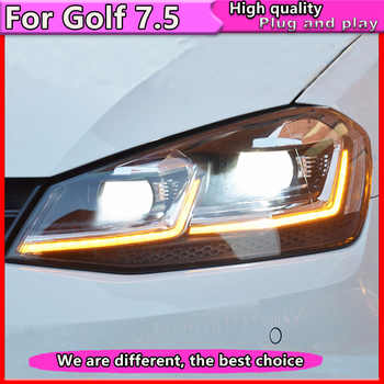Car Styling For  VW Golf 7.5 Headlights Golf7.5 MK7.5 LED Headlight with Dynamic  2018 DRL H7 D2H Hid Bi Xenon Beam - DISCOUNT ITEM  20% OFF All Category