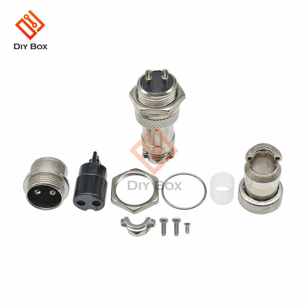 1 juego GX16 2/3/4/5/6/7/8/9/10 Pin conector macho y hembra Circular conector Circular cable panel conector 16mm