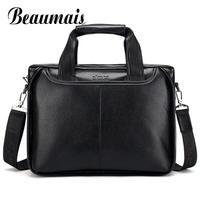 Beaumais 2017 Men Casual Briefcase Business Shoulder Bag Messenger Bag Men S Briefcase Leather Handbag Bag