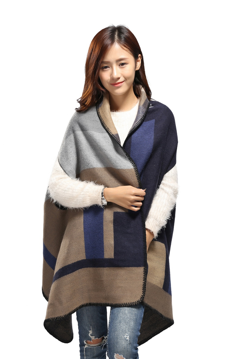 Taomigans Scarf with sleeves like cloth For Acrylic Patchwork Women Winter Scarf Pashmina