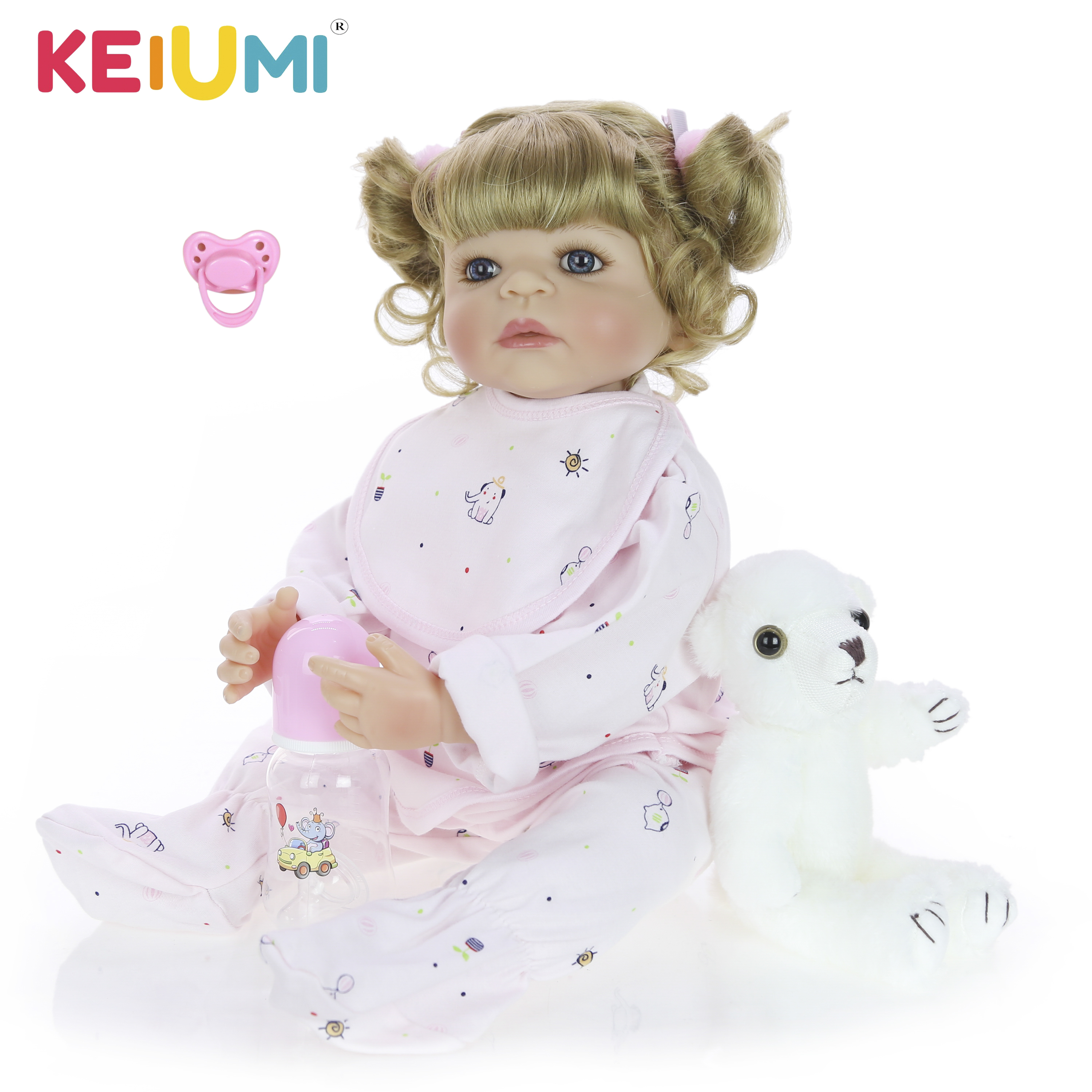 New Design 22 Inch 55 cm Reborn Baby Girl Full Silicone Body Reborn Dolls Lifelike Kids Playmate Baby Toys Girl Christmas GiftsNew Design 22 Inch 55 cm Reborn Baby Girl Full Silicone Body Reborn Dolls Lifelike Kids Playmate Baby Toys Girl Christmas Gifts