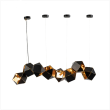 Post Modern DNA Pendant Lights 8 Metal box Creative For Restaurant Studio Home Hanglamp Lamp with LED bulb New arrival