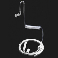 耳フックシングルイヤホン抗耐放射線空気ばねダクトイヤーフックのmicとsansungすべての電話