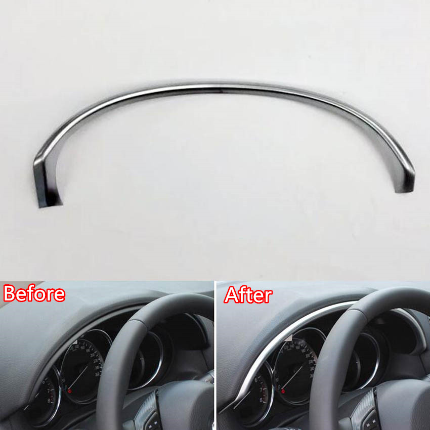 Auto Car Interior Instrument Dashboard Trim Cover Molding Strip Styling Sticker For Mazda CX-5 CX5 2015 Interior Accessories for mazda cx 5 cx5 2nd gen 2017 2018 interior custom car styling waterproof full set trunk cargo liner mats tray protector