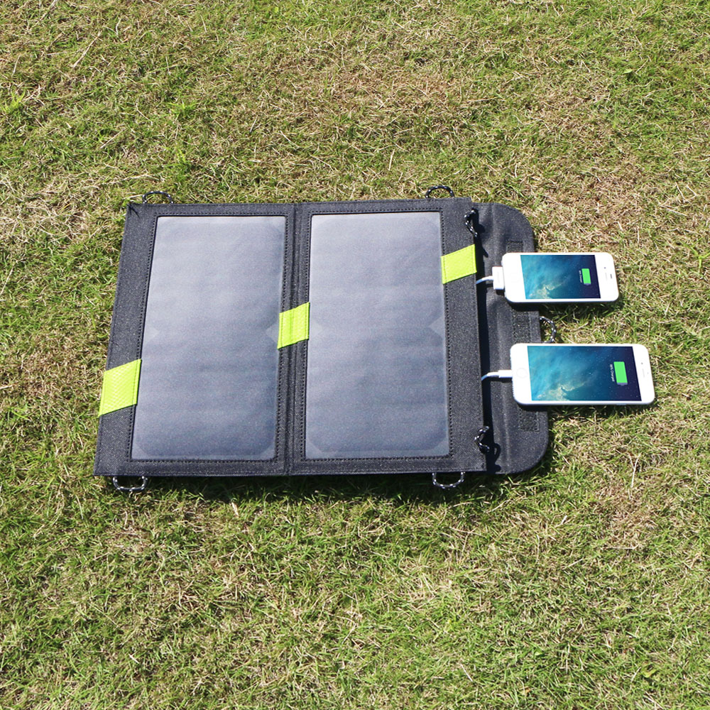 Outdoors Portable Solar Charger Total 5v 4a Dual Usb Phone