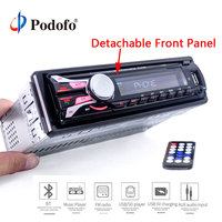 Podofo Car Radio Stereo Player Bluetooth Phone AUX IN MP3 FM/USB 1Din remote control 12V Car Audio Stereo Hands free Call radios