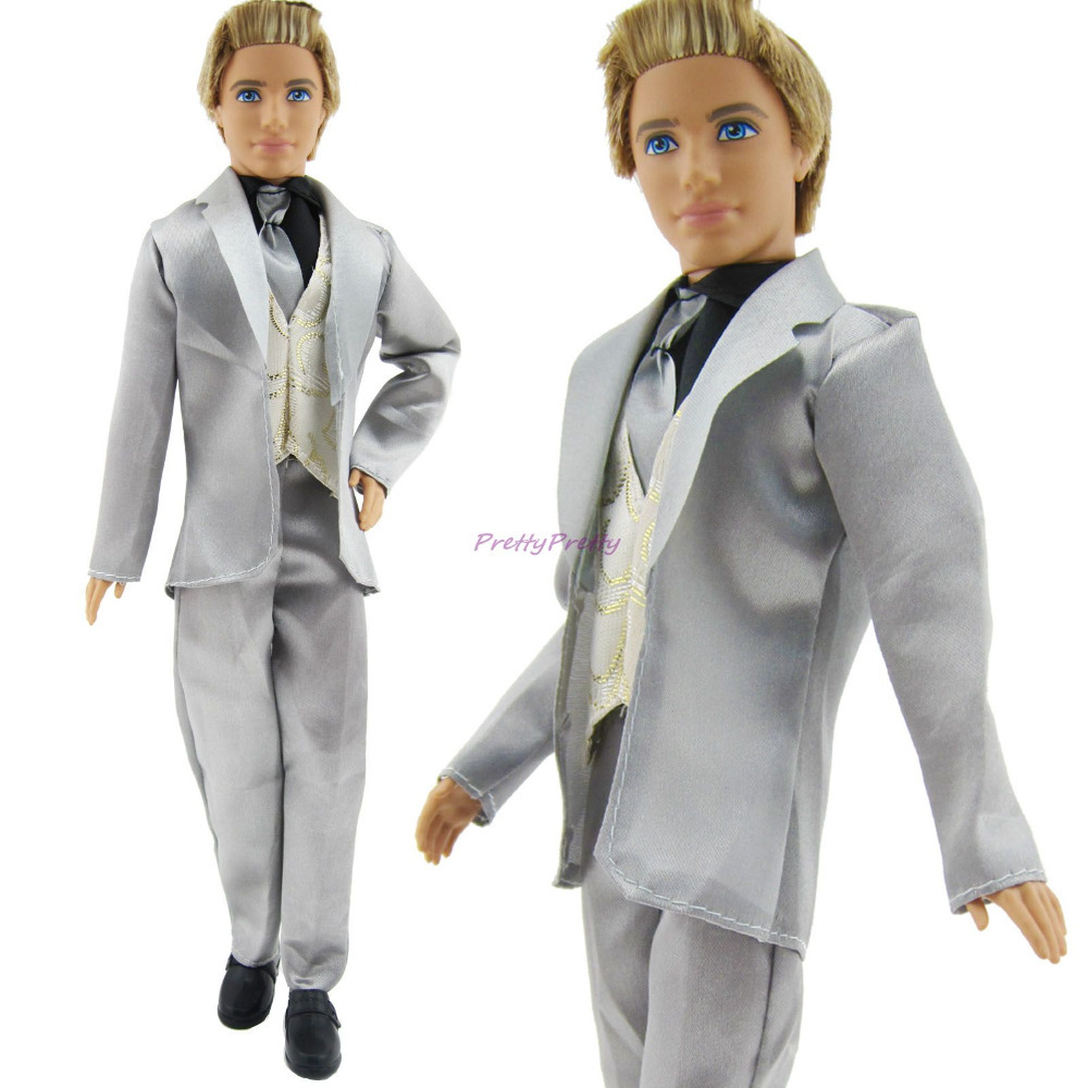 Free Shipping 2 Set Formal Groom Suit Clothes Pretend Play Outfit For Prince Ken Doll Dolls Boy Nice Gifts Best Ing In Accessories From Toys