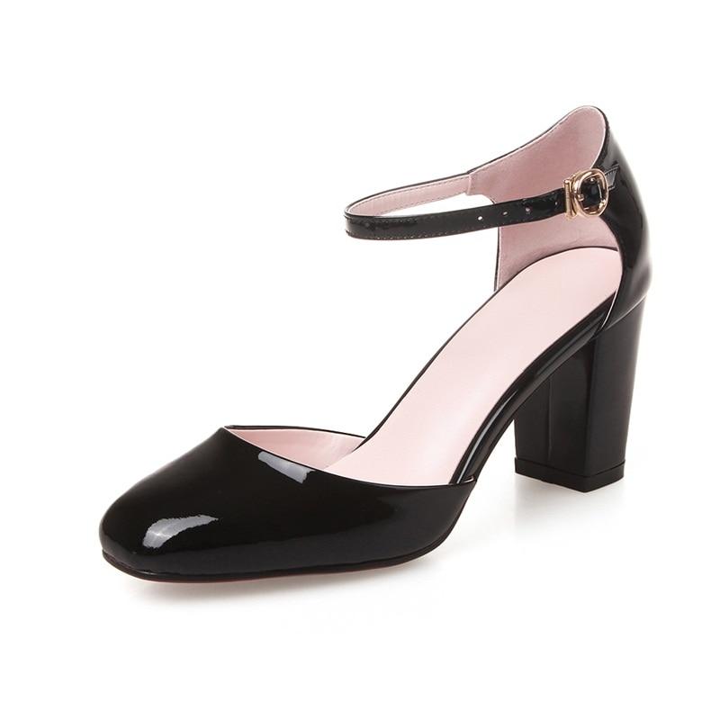 Zapatos de otoño VANKARING zapatos de mujer Zapatos de tacón alto de punta redonda de grace zapatos de mujer con hebilla-in Zapatos de tacón de mujer from zapatos    3