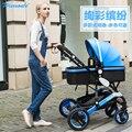 Cochecito paisaje de alta puede sentarse puede mentir la reducción fold suspensión bebé cochecito ultra ligero carro