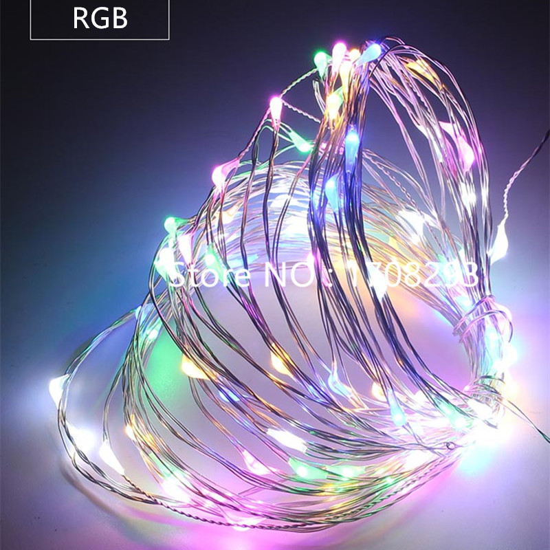 50m-400leds Copper Wire Warm White/RGB LED String Lights Starry Lights Fairy lights+12V Power Adapter+Remote Control