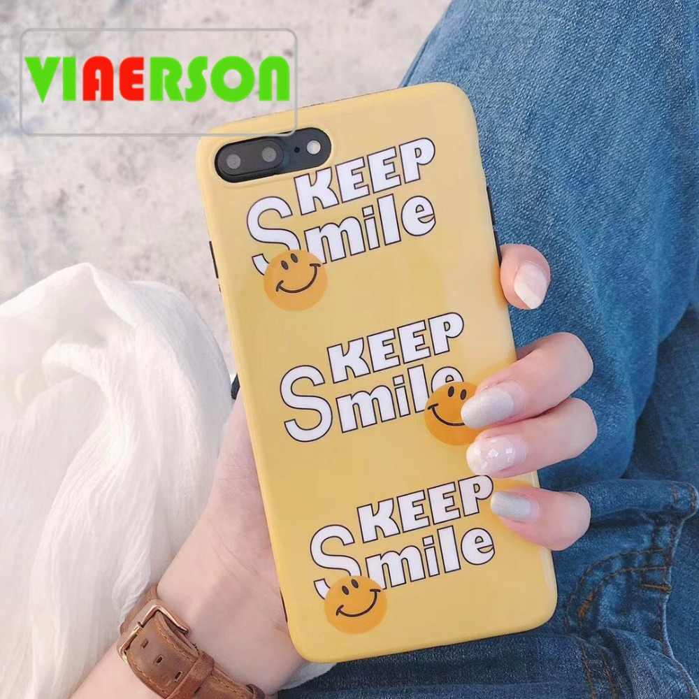 Keep Smile Phone Cases For iphone 6 6s 7 8 plus Blue-ray Soft TPU Case for iphone X Full Protect Cover For iphone 7 New Arrival