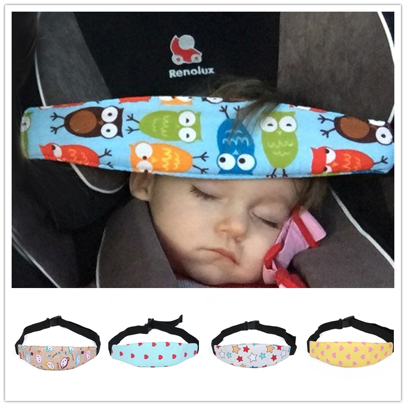 Adjustable Baby Head Support Stroller Car Seat Fastening Belt Sleep Safety Strap Protective Cloth