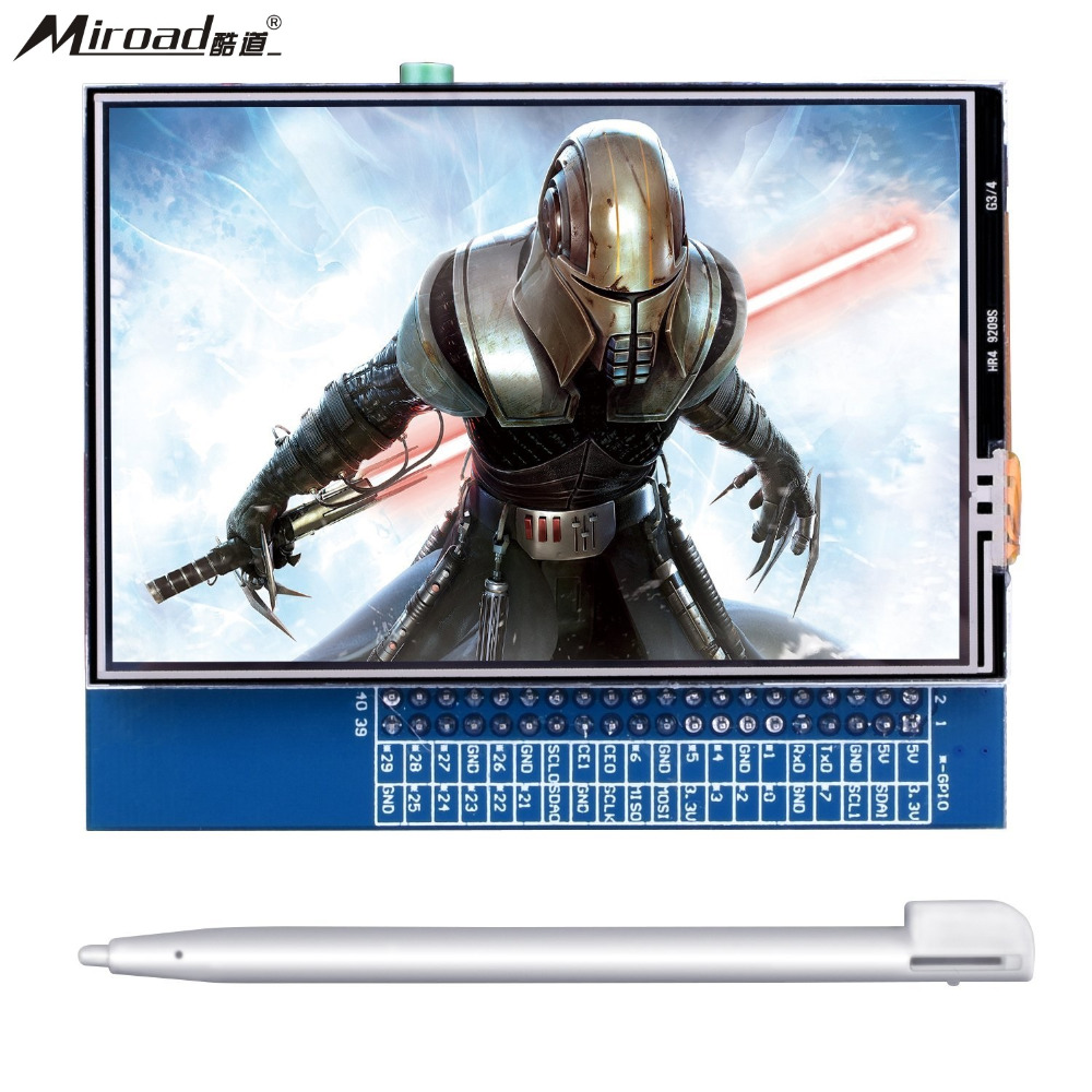 Miarod 3.5 Inch Touch Screen TFT LCD Display HDMI Monitor for Raspberry Pi 3 2 Model B B+ A A+, Movie Play Arcade Game QC35 a 7 85 inch display yh079if40 c kr079la1s 1030300739 b 1024x768 for sanei g786 soulycin s79 tablet display screen