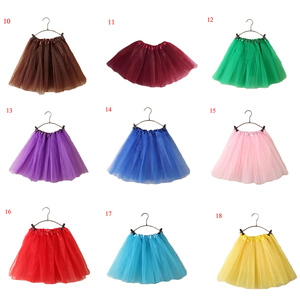Image 4 - 15Inch Length Classic Womens Tulle Skirts Elastic Tutu Skirts Solid Color High Waist Sweet Toddlers Ballet Skirt Blue Pink Rose