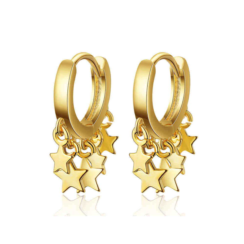 Fashion Gold 925 sterling silver Hoop Earring Star Earring For Women Korea Ear Jewelry New 2019 Orecchini