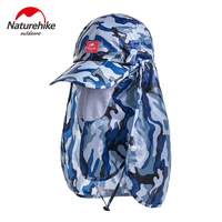 NatureHike Summer Sun Hat Outdoor Sun Protection Fishing Hiking Cap With Removable Neck Face Flap Cover Women and Man