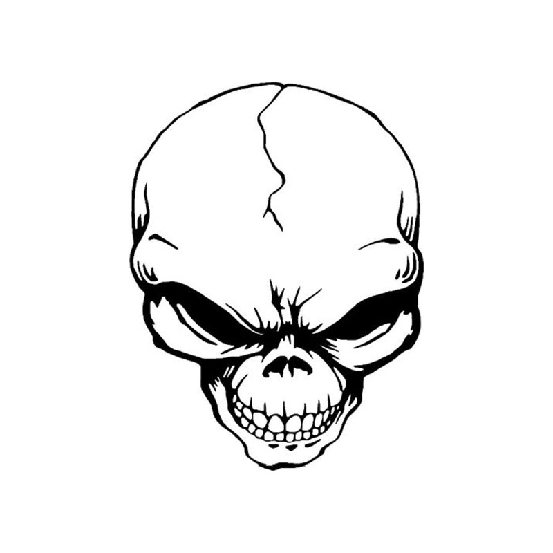 11 415 2cm Personalized Custom Alien Skull Car Stickers Reflective