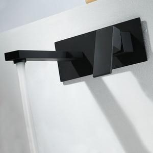 Square Black Brass Basin Sink