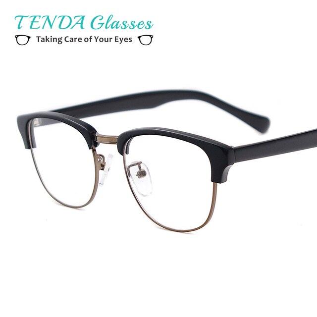 Retro Homens Óculos Armações de óculos De Prescrição De Acetato De  qualidade Grau de Miopia Lentes 792ef27eca