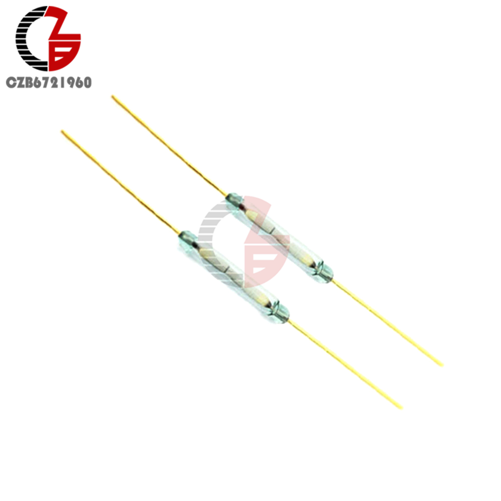 10pcs Mka 14103 Gold Tone Leads Glass N O Spst Reed Switches 10 15at Relay 5v Spdt 2 X 14mm In From Lights Lighting On Alibaba Group