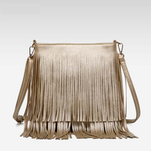 New Fashion Fringe Bag Gold Crossbody Bags Classic Women Shoulder Bags Casual Tote with Tassels Messenger