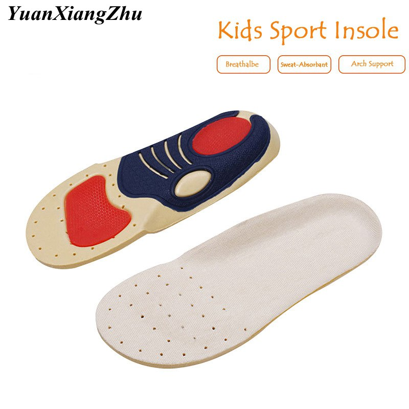 Brand Comfort Children Orthotic Arch Support Insoles Kids Comfortable Sport Running Shoe Pad Soy Fiber Feet Care Inserts Pads