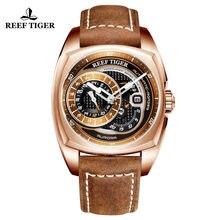 22797277fbd Recife Tigre RT Luxo Relógio Do Esporte para Os Homens À Prova D  Água  Relógio Automático Projeto Piloto Militar Relógio Masculi.