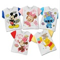 Cartoon Baby Boys T-Shirts Mickey Children Clothes Girls Tops Minnie Summer 100% Cotton Baby Tees Shirts Newborn T Shirt 1-5Year