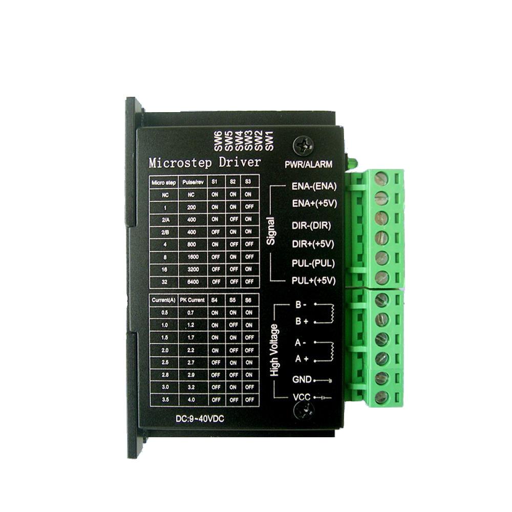3 pièces | version mise à jour de TB6600 StepperMotor 4A 9 ~ 42V TTL 16, Micro-Step 42,57, 1 axe, nouvelle Phase 2or4 de StepperMoto, 86