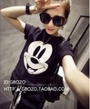 2016 New Cute Cartoon Mickey T Shirt Women's Short-sleeve Emoji Tshirt Woman Clothes O Neck Camisetas Mujer