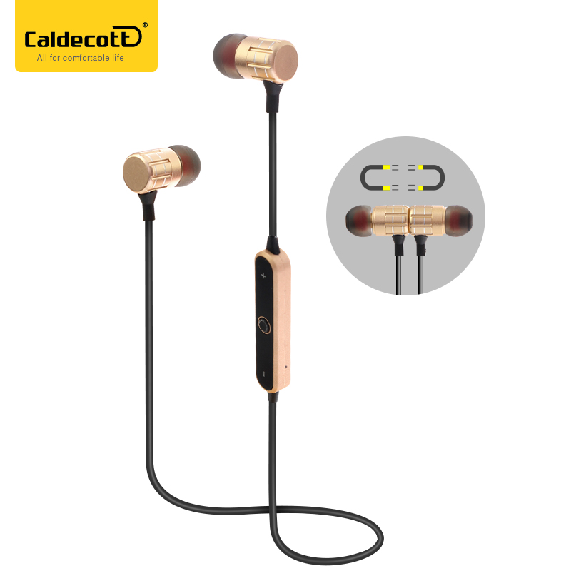 Hifi Earphones Bluetooth 4.2 Head phone for iPhone Samsung Headset Wireless Stereo Music Handsfree Original Metal Smart Sports koyot sport headphones bluetooth earphones ear phone wireless stereo headset earphone music handsfree for iphone 7 ios android