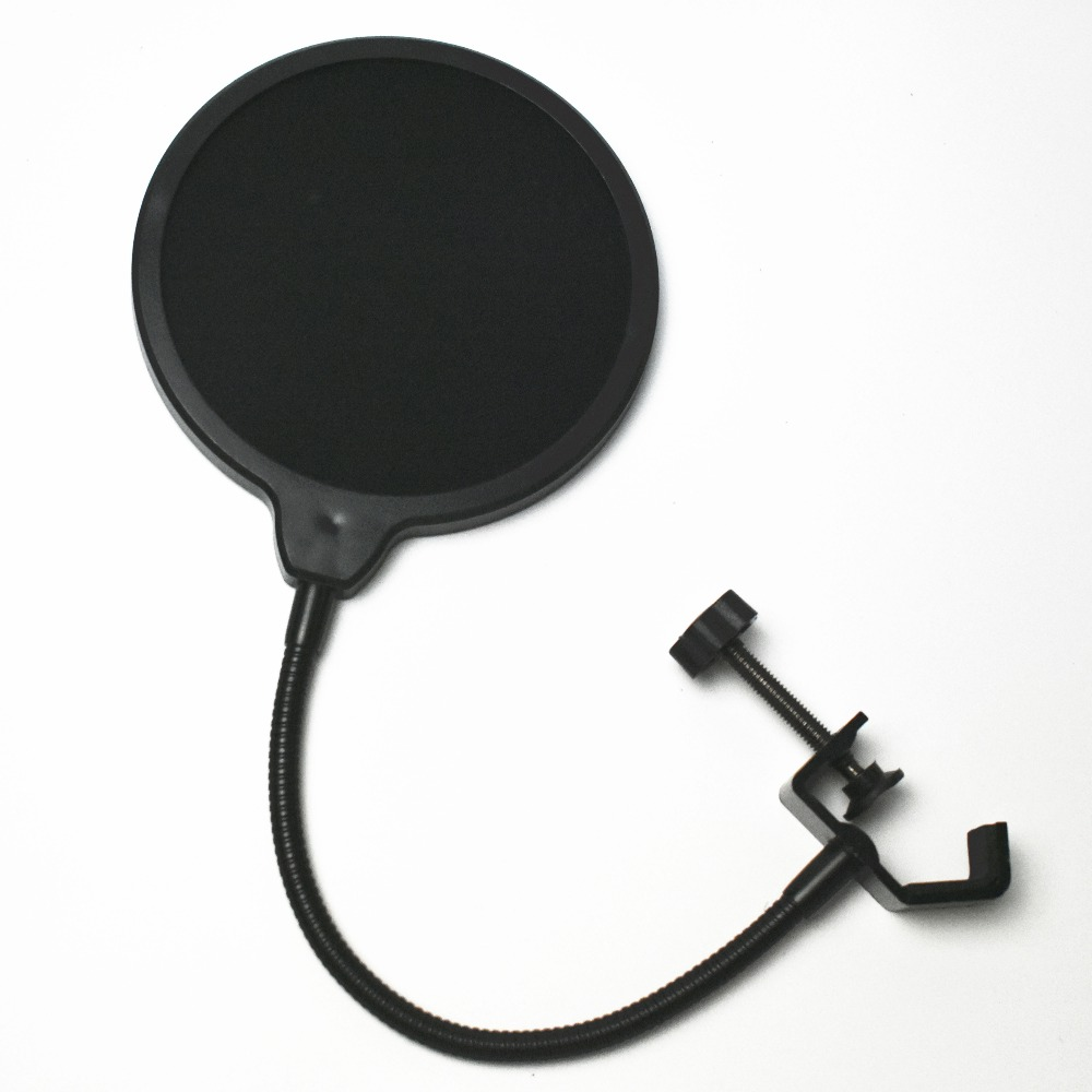 12cm pop filter microphone/ Windscreen with Swivel Mount 360 Flexible Holder for blue yeti Microphone цены