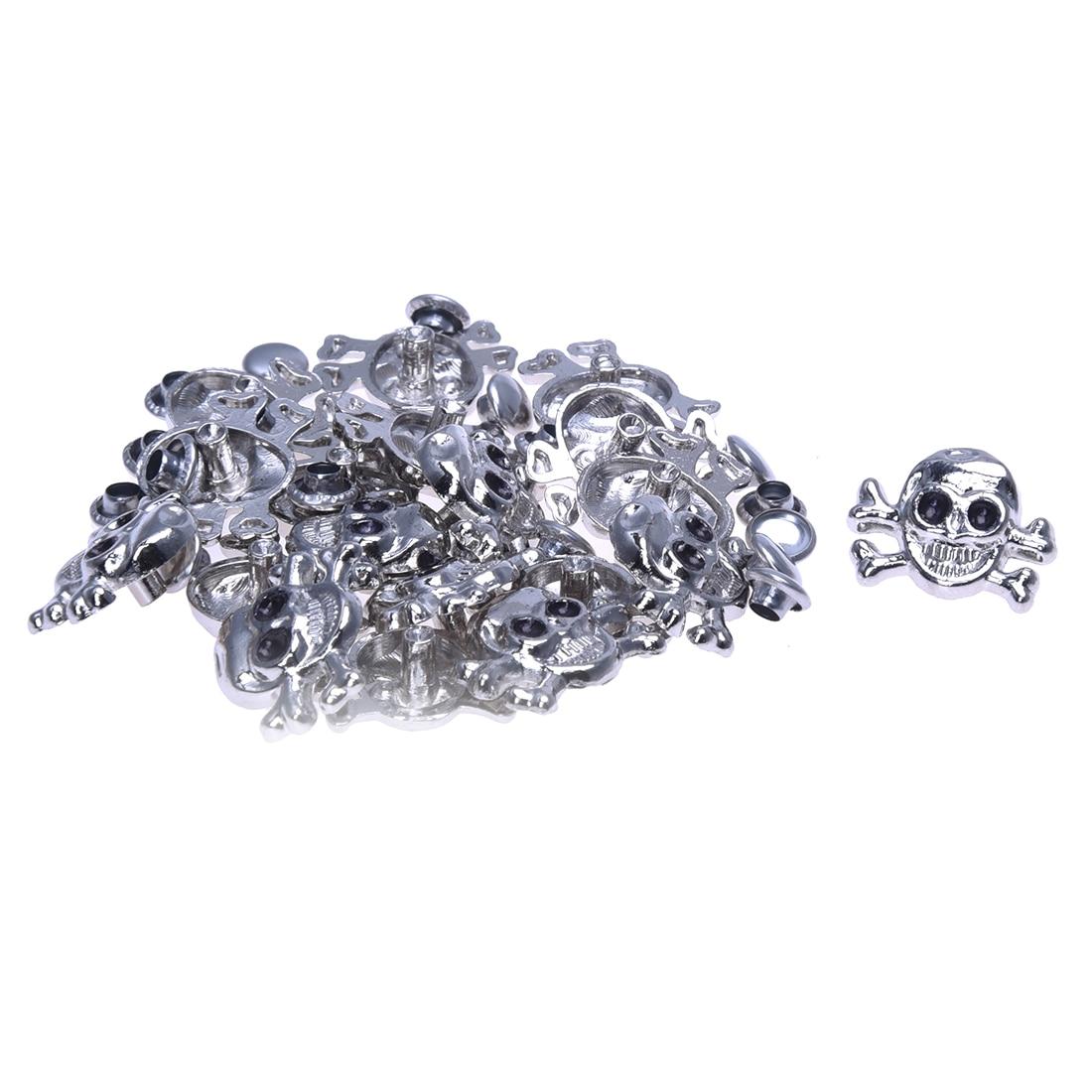 Wholesales 20X Sconces Rivets Skull Metal 14 * 18mm Tacks Bag / Shoes / Gloves