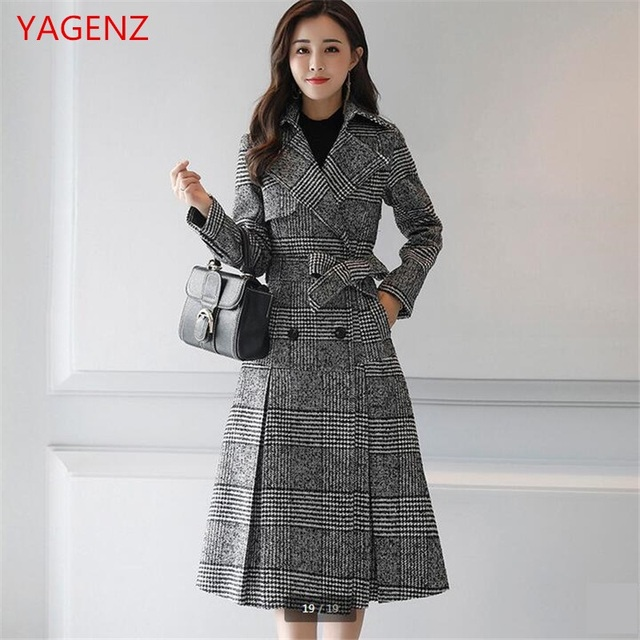 super popular a7ea2 b9e00 US $77.9 48% OFF|Mode Junge frau windjacke Herbst mantel Neue produkt  hochwertigen stoff Frauen basic mäntel Temperament Tweed Frauen mantel  BN2573 in ...