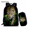 Школьная сумка Nopersonality для мальчиков с 3D-принтом джунглей и леопардовым принтом  крутые детские школьные сумки с принтом животных  школьные ...
