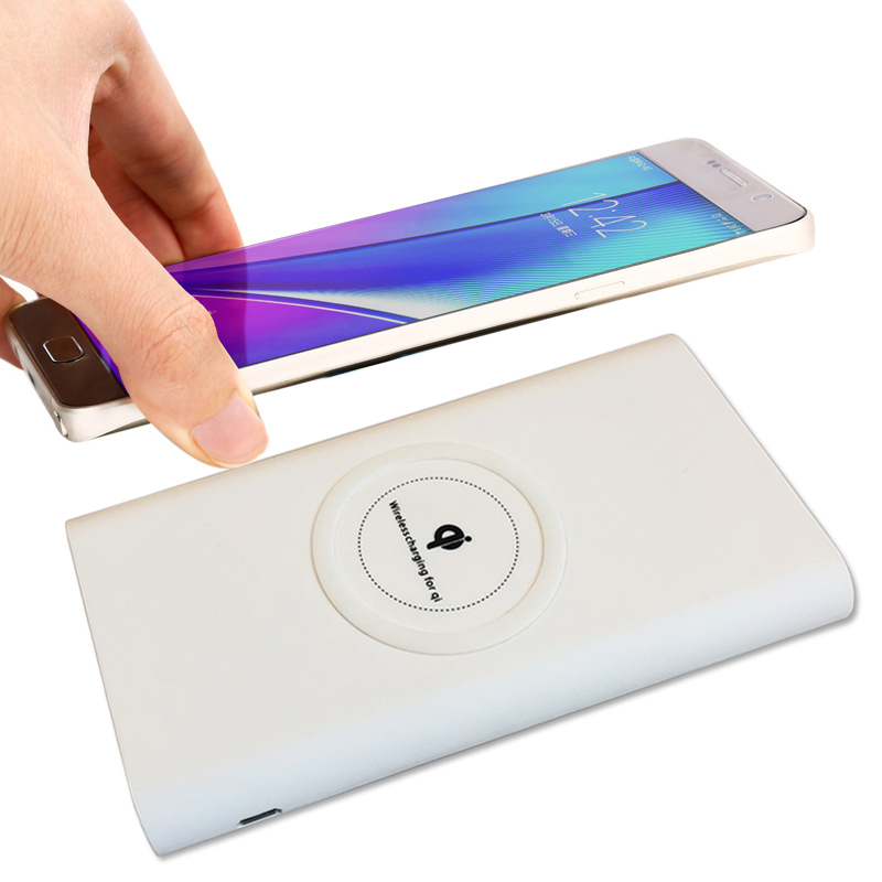 BTDCT QI Wireless Charger Power Bank 5V 2.1A 10000mAh External Battery For iphone X 8 Samsung S8 Note8 With Free charging cable