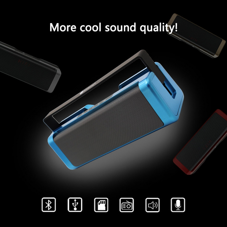 Outdoor Portable Wireless music box Bluetooth Speaker Dual Stereo Speakers Support FM TF Card MP3 mifa Music receptor
