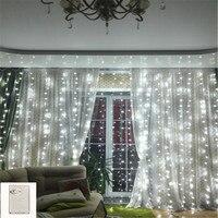 Memory Window Curtain LED String Light 6MX3M 600LEDs Outdoor Icicle Christmas Fairy String Light Wedding Garden Fairy Garland