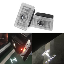 2PCS 3D Car LED Courtesy Ghost Shadow Welcome Light Laser Logo Projector Door Lamp For Tesla MODEL 3 S X
