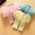 2017 Fashion Baby Girl Culottes Leggings Gauze Pants Party Skirts Bowknot Tutu Skirts Blue/Pink/Yellow