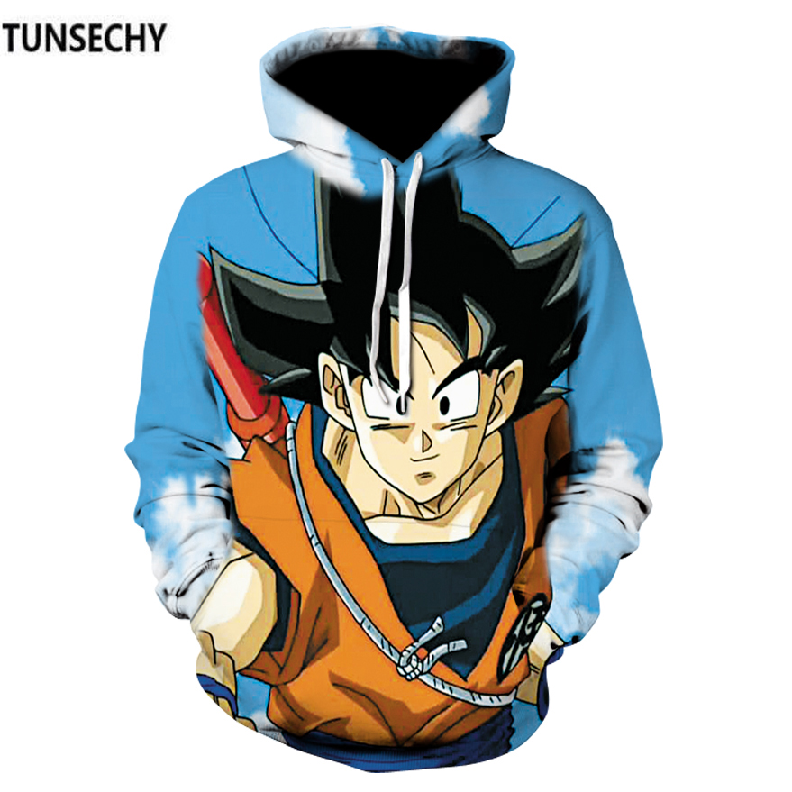 TUNSECHY cartoon dragonball super Monkey King Hoodies & Sweatshirts Digital printing men and women hooded Long-sleeved clothes