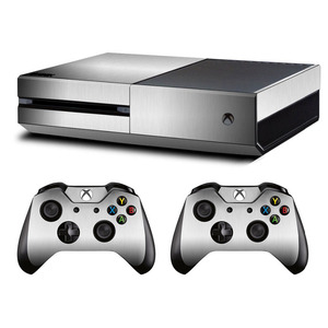 Image 1 - Metal Brushed Skin Sticker Decal For Microsoft Xbox One Console and Kinect and 2 Controllers For Xbox One Skin Sticker Vinyl