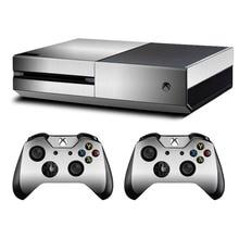 Metall Gebürstet Haut Aufkleber Aufkleber Für Microsoft Xbox One Konsole und Kinect und 2 Controller Für Xbox One Haut Aufkleber vinyl