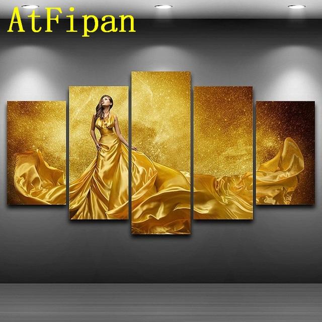 AtFipan Home Decor Wall Art Modular Pictures 5 Panel Beautiful ...