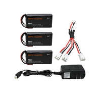 Cheerson CX 35 CX35 Hubsan H301S Lipo Battery 7 4V 1300mAh 15C 3pcs Batteies Of UL